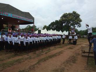 Youth Choir Ministering to the congregatioin 3