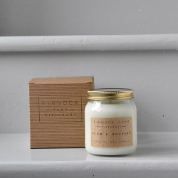 scented natural soy candle- plum and rhubarb