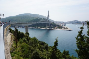 The bridge in Dubrovnik, Croatia.
