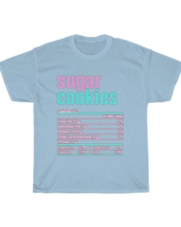 Sugar Cookies – Nutritional Facts Unisex Heavy Cotton Tee