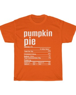 Pumpkin Pie – Nutritional Facts Unisex Heavy Cotton Tee