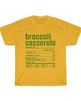 Broccoli Casserole – Nutritional Facts Unisex Heavy Cotton Tee