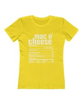 Mac N' Cheese Nutritional Facts – Women's The Boyfriend Tee