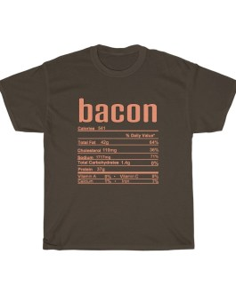 Bacon – Nutritional Facts Unisex Heavy Cotton Tee