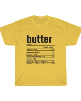 Butter – Nutritional Facts Unisex Heavy Cotton Tee – black