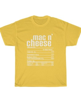 Mac n' Cheese – Nutritional Facts Unisex Heavy Cotton Tee