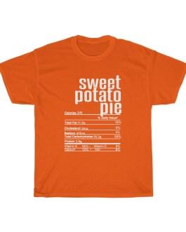 Sweet Potato Pie – Nutritional Facts Unisex Heavy Cotton Tee