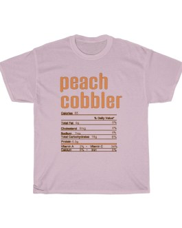 Peach Cobbler – Nutritional Facts Unisex Heavy Cotton Tee