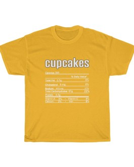 Cupcakes – Nutritional Facts Unisex Heavy Cotton Tee