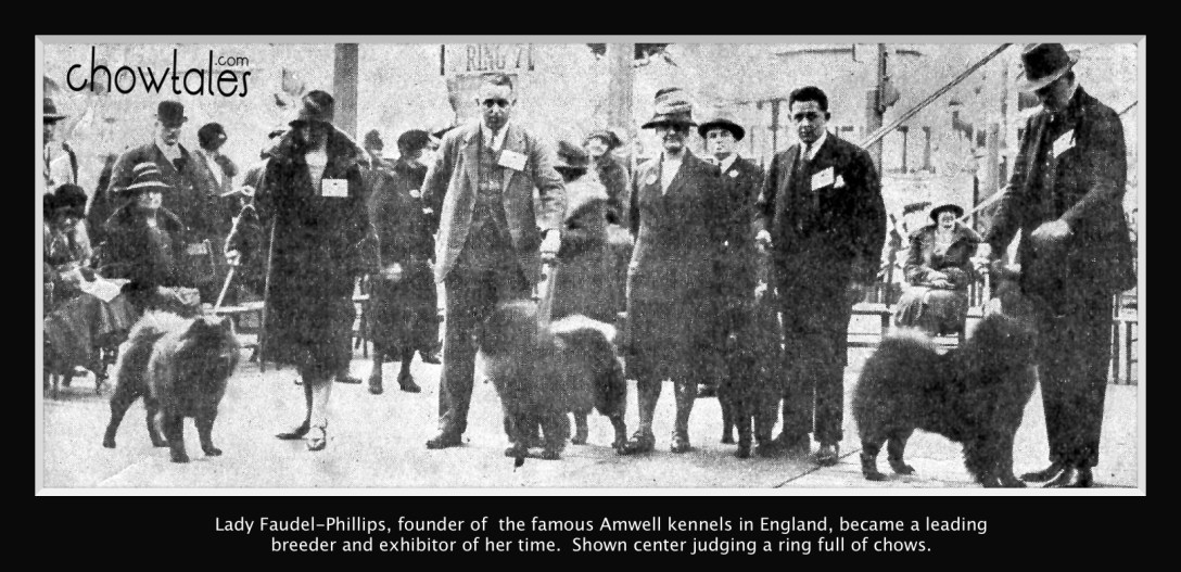Lady FAudel Phillips judging in England
