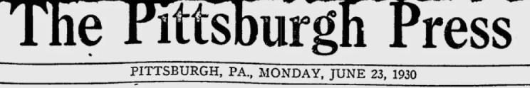 Sonny Boy dog writes his own story.  5 pix  1930 Pittsburg Press