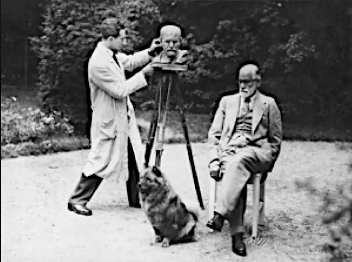 NEMON, FREUD AND YOFI AT FREUD'S SUMMER HOME 1931