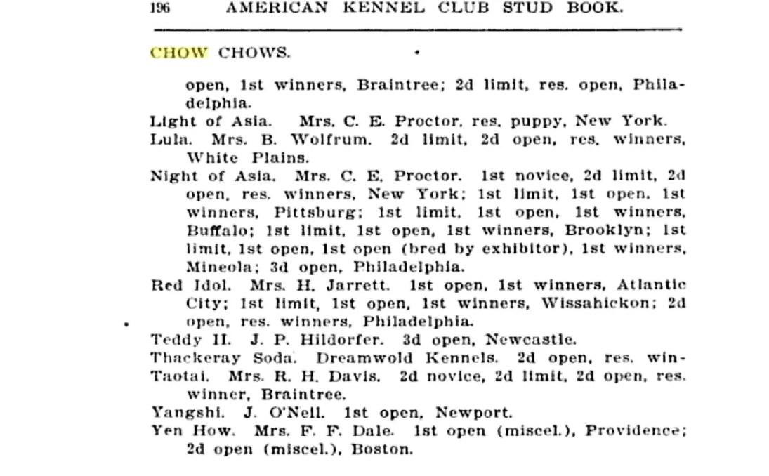 1906 stud book
