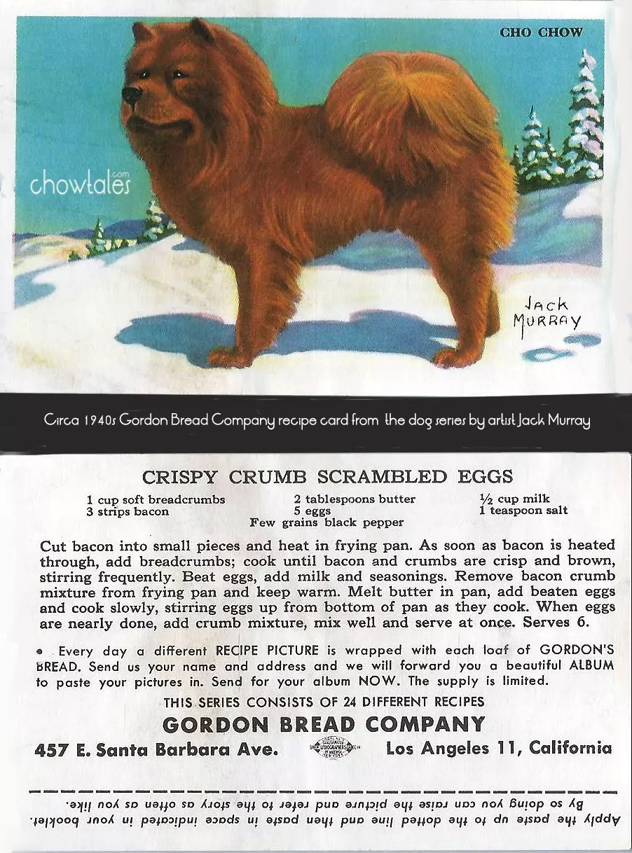 Gordon Bread Jack Murray 1940s