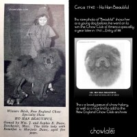 1941 National Specialty – Best of Breed bitch – Ch. Ho Han Beautiful