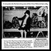 1932 National Specialty won by Ch. Yang Fu Tang