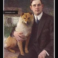 1915 PORTRAIT of Everett Grimes with a chow – San Francisco social scene.