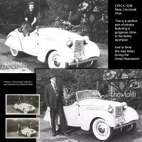 RESTORATION – Couple with a Chow in a 1938 American Bantam Roadster sportscar