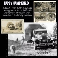 1920'S CAMPER CAR SNAPSHOT WITH CHOW