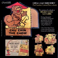 1930S Chu Chin the Chow Disney promotion on Post Toasties