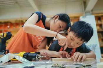 從頭開始 裁切研磨到組裝拋光 自己的桌遊自己做 Testrite Maker 冰球台 小卡車書架 特力屋手創空間 木工手作體驗 仁德店