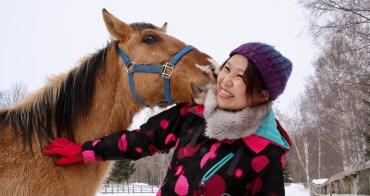 北海道冬季限定 Megere farm 雪上騎馬散策愉快愉快 メジェール牧場