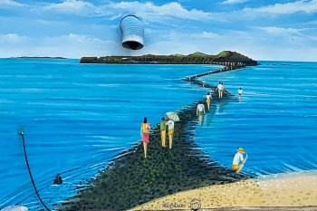 澎湖八景不容錯過 摩西分海奇景 縮時攝影 潮汐表要注意 奎壁山地質公園