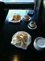 Awesome hummus and pita spread