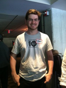 Kadam in his 10th Anniversary shirt
