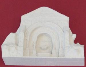 """3D-Druck eines gotischen Brunnens mit dem """"Stein""""-Material"""