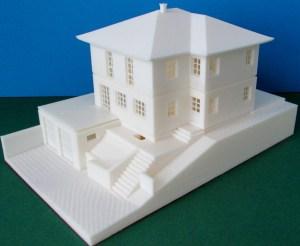 3d-gedrucktes Einfamilienhaus zerlegbar