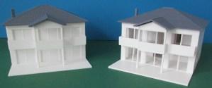 """3D-gedruckte 1:100 Modelle des """"NEW Design V"""" von VARIO FERTIGHAUS"""