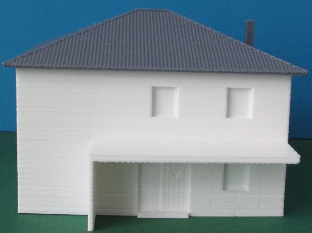"""3D-gedruckte 1:100 Aussenansicht des """"NEW Design V"""" von VARIO FERTIGHAUS"""