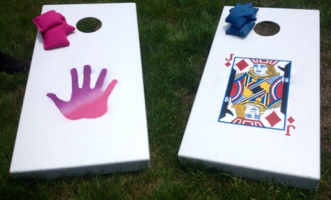 Completed JJ cornhole boards