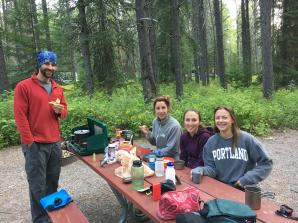 Camp Breakfast with Tired Eyes