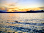 Sunset over Flathead Lake from Wayfarer