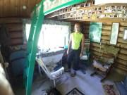 Inside large cabin