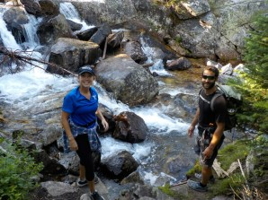 Cooling off in mountain stream