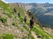 Starting ridge line traverse