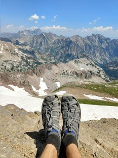 Made it up to the summit in my sandals!