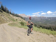 Dirt road down from Togwotee Pass