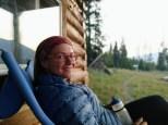 Porch portrait: Rachel