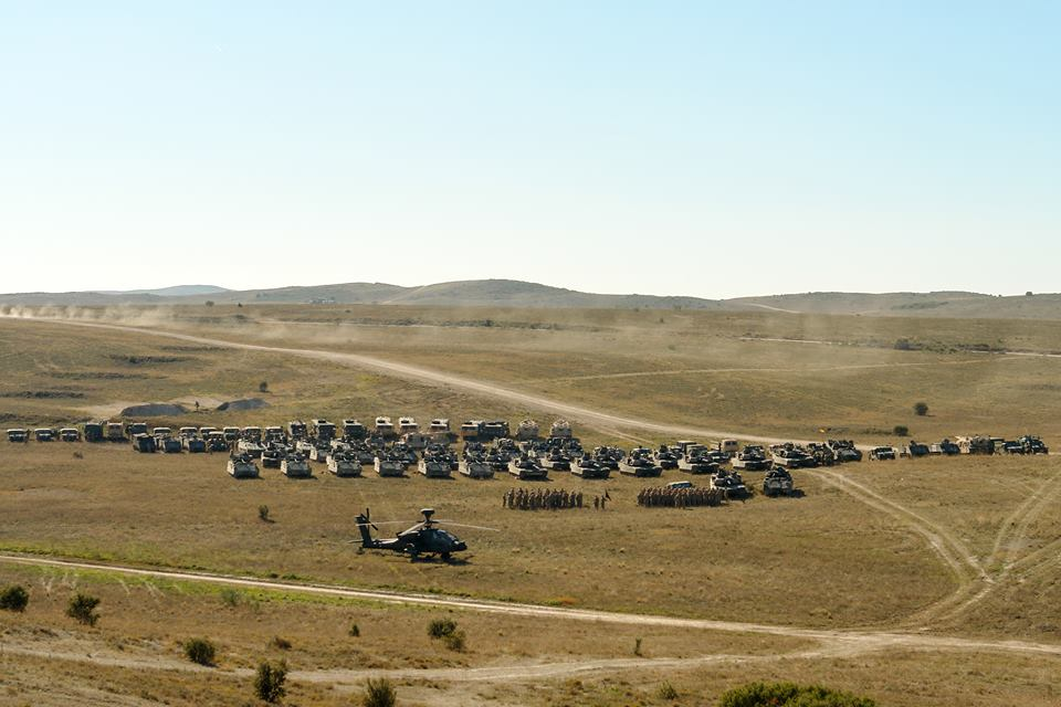 training area formation