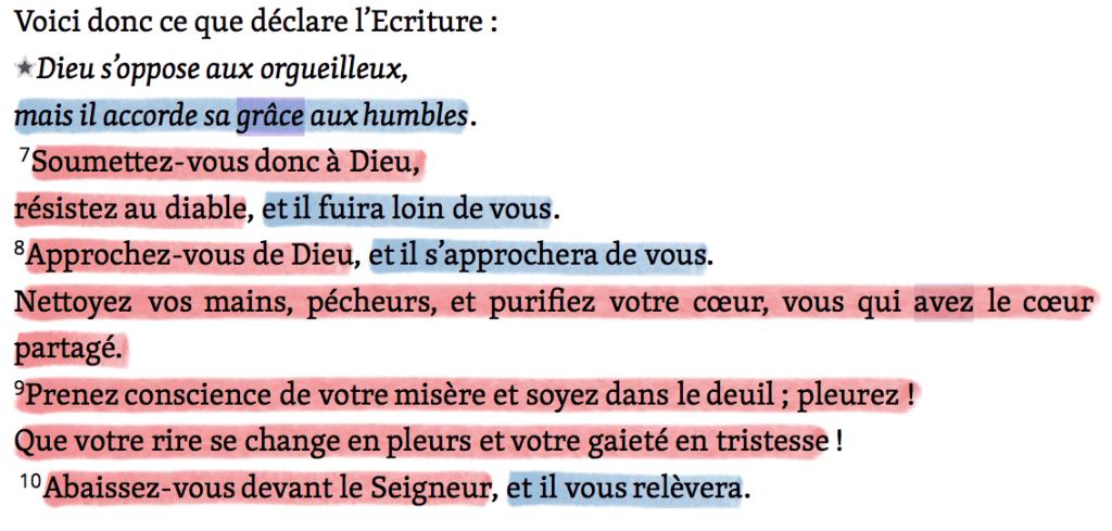 Commandements et promesses - Jacques 4v6-10