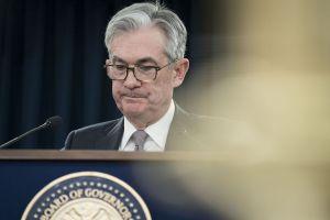 Le président de la Réserve fédérale américaine Jerome Powell participe mercredi à une conférence de presse à Washington, aux Etats-Unis.