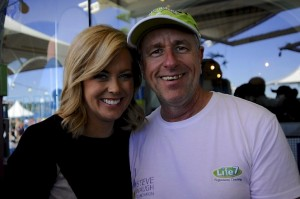 Samantha Armytage and Chris Edwards