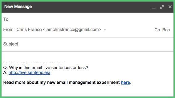 Email Management Gmail Signature