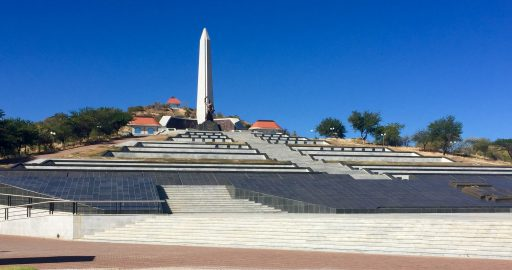 Namibia's Heroes Acre, analogous to America's Arlington National Cemetery, with their Tomb of the Unknown Soldier, eternal flame and final resting place for the men & women who helped to create this new nation.