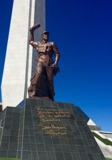 Memorial at the national park honoring the fallen freedom fighters of Namibia's struggle for independence.