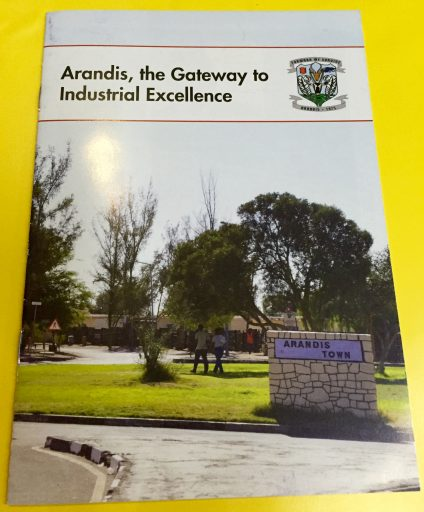 """My """"client,"""" the Arandis Town Council, provided this brochure in my site information package."""